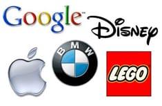 Logos de las empresas que lideran el listado