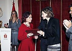 Viginia Carcedo recoge el premio