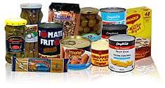 Paquete de alimentos listo para envio