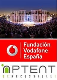 Logo de Teatro Accesible de Vodafone