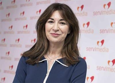 Luz Usamentiaga durante la entrevista en Servimedia