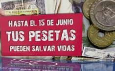 Manos Unidas recogiendo pesetas